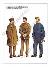PLANCHE UNIFORM PRINT WWI Royal Flying Corps Forces Aériennes Britanniques RFC