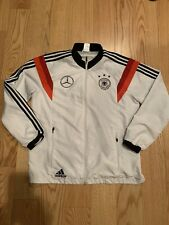 adidas Mens DFB Germany Poly Tracksuit Top White/Black Sz L D83030 Benz Mercedes