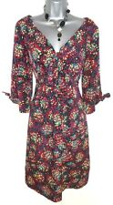 Stunning Monsoon Multi Coloured Pattern Evening Occasion Day Dress Size 10