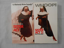 2 Whoopi Goldberg Movies 2 VHS Tapes: Sister Act/Sister Act 2:Back In The Habit