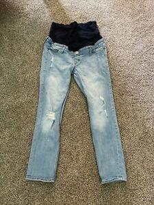 Mama (h&m) Ankle Skinny Size 10 Light Wash Denim Jeans