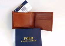 Genuine Ralph Lauren Leather Passcase Wallet Bifold 2 ID Sleeve Windows
