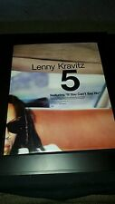 Lenny Kravitz 5 If You Can't Say No Rare Original Promo Poster Ad Framed!
