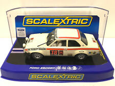 Scalextric C3313 Ford Escort MkI Mexico White Rally with Lights New Boxed