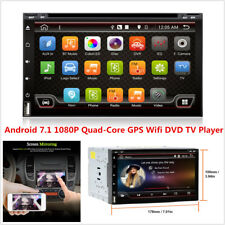 """7"""" HD Android 7.1 Double 2Din Car DVD Stereo 4Core Radio GPS Nav DAB Wifi DVR 4G"""