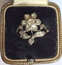 Cut Flower Ring Circa 1760's A Fabulous Georgian 1ct Table