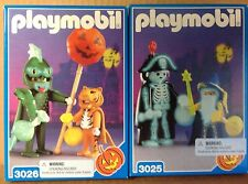 Playmobil 3025 Pirate/Wizard,&  3026 Dragon/Tiger  - Halloween Sets -  NEW