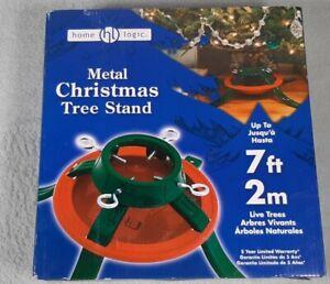 Metal Christmas Tree Stand Up To 7 ft. Home Logic Live Tree