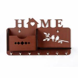 Handmade  Beautiful Wood Key Holder Wooden Wall Decorative Key Holder