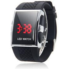 New Fashion Men's LED Date Digital Watch Waterproof Sport Black Wrist Watch US