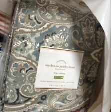 Pottery Barn Mackenna Duvet Cover Set Blue King 2 King Shams Paisley New