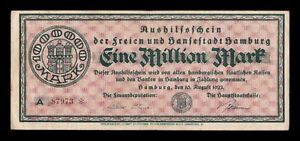 B-D-M Alemania Germany Notgeld Hamburgo 1000000 Mark 1923 MBC VF