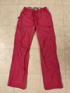 Koi Lindsey Cargo Scrub Pants Flamingo Sz XS Tall
