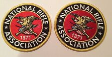 """2-BRAND NEW-NATIONAL RIFLE ASSOC/NRA EMBROIDERED IRON ON PATCHES! 3""""x3"""" AWESOME!"""