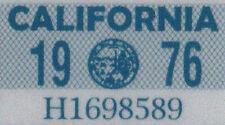 Us Estados Unidos California matrícula license plate number plate año aufkläber 1976
