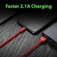 1M Braided USB Quick Charger Data Charging Cable Lead For iPhone 7 8 5s X
