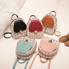 Women Mini Backpack Bag Girl Plaid Small Shoulder Handbag Travel Phone Purse Bag