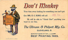 Cleveland Oh Ullmann & Philpott Printing Inks Color 1900 Postcard