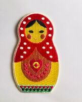 Babushka ✿Matroyshka ✿ Russian Nesting Doll.IRON ON Embroided Patch / Applique.P