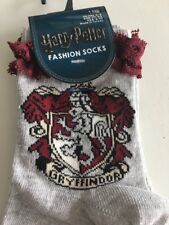 Harry Potter Frill Socks 4 5 6 7 8 Gryffindor Christmas Stocking Filler Red Grey