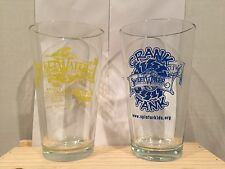 Two Vintage Sweetwater Brewery Glasses- *NEW Festive Ale Motor Boat - Atlanta
