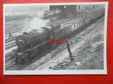 POSTCARD BR LOCO NO 90707 AT MIRFIELD POWER DEPOT 1966