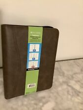 Day-Timer Distressed Leather Like Planner, Undated Traditional Starter Set