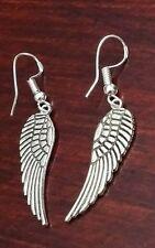 Silver Handcrafted Angel Wing Earrings