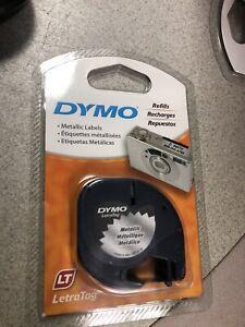 """Dymo Letratag 91338 Metallic Tape - 1/2"""" X 13'"""