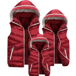 Womens down cotton vest hooded coat children sleeveless waistcoat student jacket