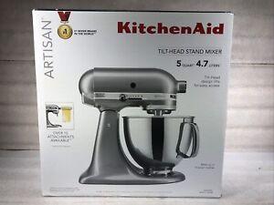New KitchenAid KSM150PSMC Artisan 5-Quart 10-Speed Stand Mixer, Metallic Chrome