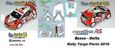 DECAL  1/43 -  FORD  FIESTA R5  - BRC -  BASSO - Rally  TARGA  FLORIO   2016