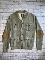 Jeans By Buffalo Mens Sherpa Lined Sweater Jacket Size Large