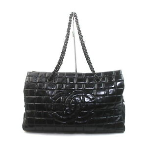Chanel Tote Bag  Black Enamel 2208771