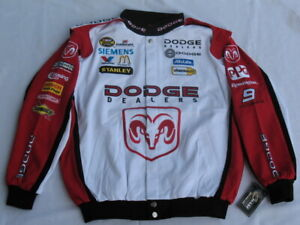 Kasey Kahne Dodge Cotton Twill NASCAR Jacket by Chase! Adult Size: (XL) X-Large