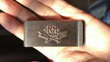 Genuine Ralph Lauren Double RL RRL Logo Weathered Metal Bank Note Money Clip