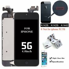 For iPhone 5 Black LCD Touch Screen Replacement Digitizer +Home Button+ Camera