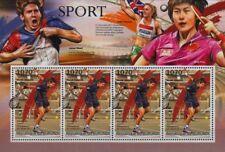 NOVAK DJOKOVIC Serbian Tennis Player / Sport Stamp Sheet (2012 Burundi)