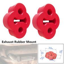 2x Universal Car Rubber Exhaust Tail Pipe Mount Bracket Hanger Insulator 2Holes