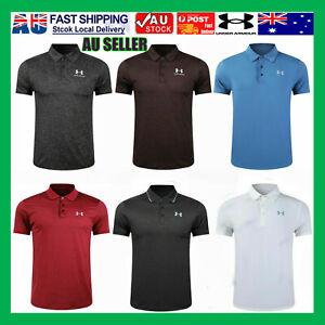 2021 NEW Under Armour Mens UA Golf Sports Polo Shirt Smooth Shirts Tops AU STOCK