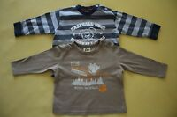 PAPAGINO Kinder langarm T-Shirt Shirt 2-tlg Set  BAUMWOLLE Gr. 74-80