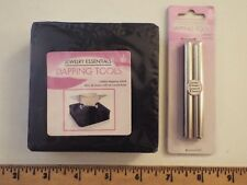 2 NEW-jewelry essentials tools-rubber dapping block & love & peace metal stamps