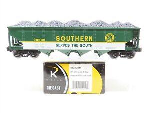 O Gauge 3-Rail K-Line K623-2011 Die Cast SR Southern 4-Bay Hopper #28888