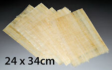 6 Genuine Egyptian Blank Papyrus Sheets for Art Projects and Schools 24x34cm