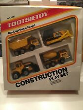 Vintage Tootsie Toy  'Construction Play Set'  Die-Cast / Plastic 1987
