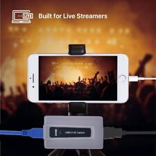 HDMI to USB 3.0 Video Capture Card 1080P HD Record Box Mac Windows Live Stream