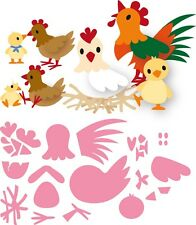 Marianne Design Collectables Cutting Die ELINE'S CHICKEN FAMILY COL1429