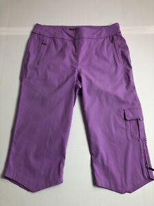 Jamie Sadock Golf Capris Pants Size 18 Purple