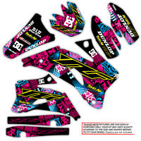 2003 2004 YAMAHA YZ 250F / YZ450F GRAPHICS KIT NIGHT RIDER : MAGENTA / CYAN KIT