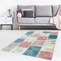 Teppich Modern Designer Wohnzimmer Pastellfarben Impression Patchwork
